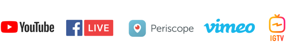 social per dirette live streaming